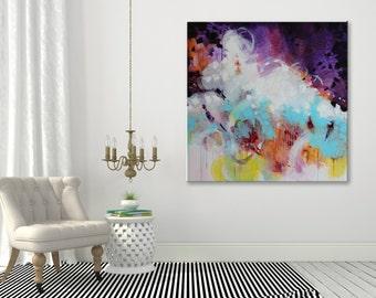 Modern artwork Original abstract painting Large Wall art Abstract art Abstract wall art Painting on Canvas Art Contemporary art Violet