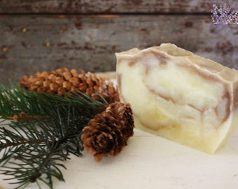Handmade Pine Soap, all natural, vegan, handcrafted