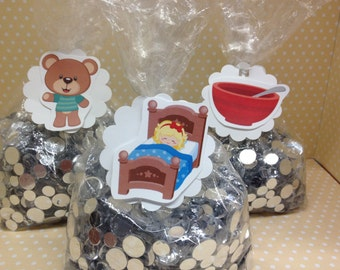 Goldilocks and the 3 Bears Party Candy or Favor Bags with Tags - Set of 10
