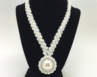 White Pearl Bridal Necklace