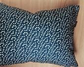 Little White Hills Teal Pillow