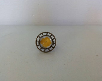 Yellow Sun flower ring