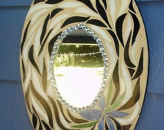 Oval Mirror Mosaic