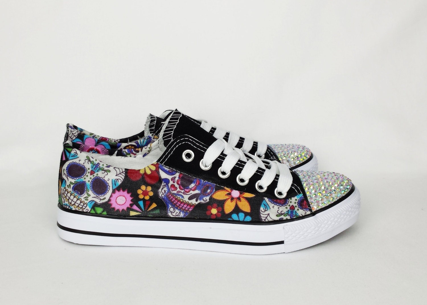 Day of the dead custom shoes women shoes sugar skull shoes