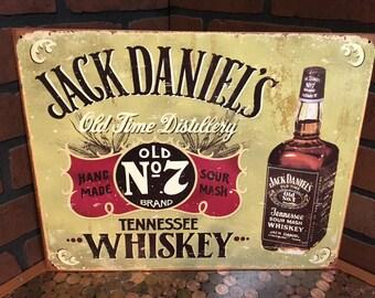 Jack Daniels Old No. 7 tin sign