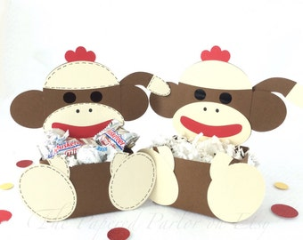 Sock Monkey Party/Monkey Party/Monkey Birthday/Monkey Baby Shower/Monkey Goody Bag/Monkey Party Bag/Monkey Treat Bag/Sock Monkey/Monkey