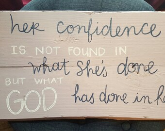 Confidence sign