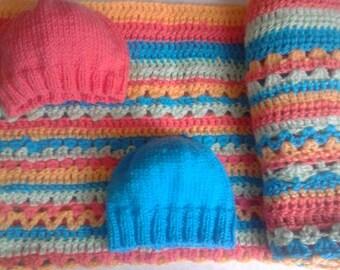 Baby Blanket , Newborn baby Blanket , Blue baby Blanket , pastel baby blanket , pastel blanket , Baby shower gift  , newborn blanket