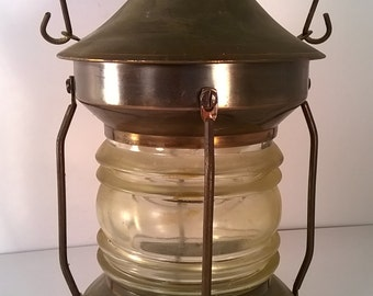 RARE Vintage Metal and Glass Musical Lantern/Decanter