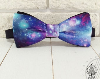 Bow Tie Space #4, Bowtie space pattern, Blue bow tie, Wedding bow ties, Blue wedding