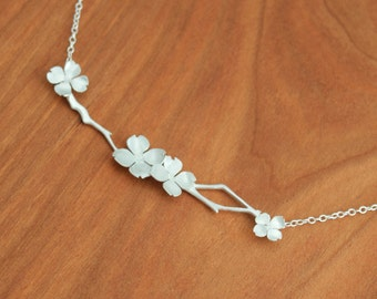 Dogwood Flower Necklace, Dogwood Blossom