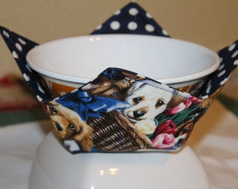 Dog  Lovers  Handmade Microwave Bowl Potholder Cozy, A Must Have Item !