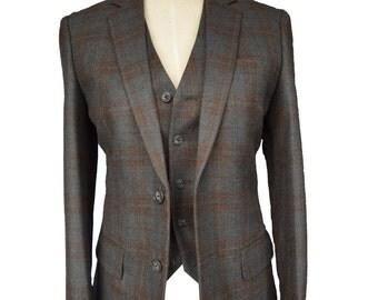 Women brown jacket, women brown blazer, women suit, women jacket blazer