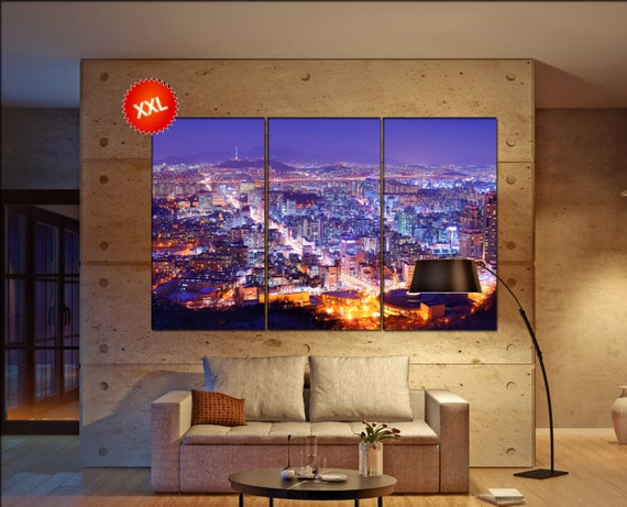 Seoul canvas wall art  Seoul canvas wall art art Seoul wall decoration Seoul large canvas wall art