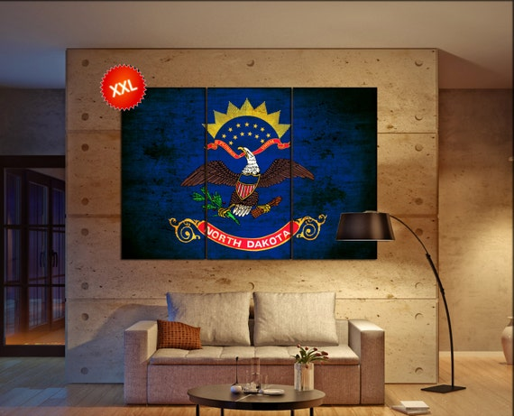 north dakota state flag  canvas north dakota state flag wall decoration north dakota state flag canvas art large canvas