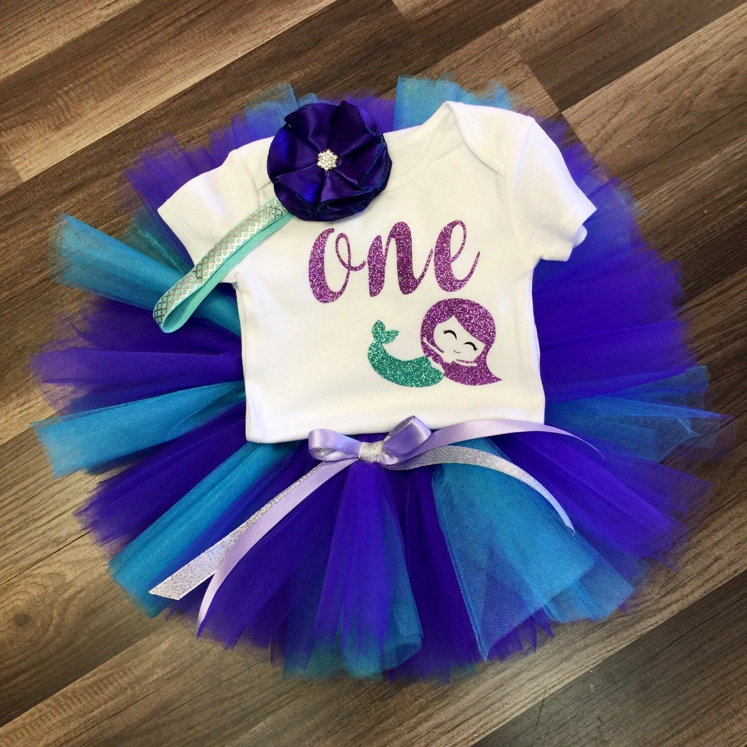 Birthday Party Outfit: Mermaid Birthday Outfit Under The Sea Birthday Outfit By