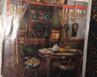 The COUNTRY Dining Room, Keeping Room and Bedroom Sewing Patterns.  Simplicity House #106, 105, 113