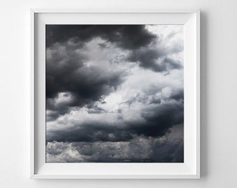 Cloud Photography, Abstract Art, Abstract Photography, Black And White Photography, Cloud Art, Grey Prints, Landscape Photo, Wall Art Print
