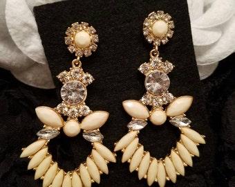 Fashion Crystal Earrings Dangle earrings Gold color