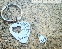 You are the Music in My Heart, Keychain For Guitarist, Gift For Guitarist, Unique Gift for Husband, Gift for Boyfriend, Band Member Gift
