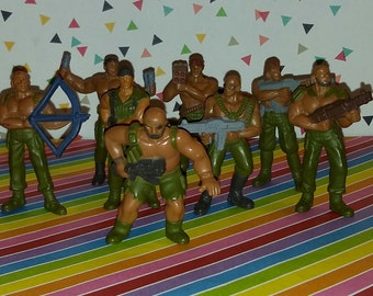 Vintage Lot of 8 1980s Mattel Guts Jungle Troopers