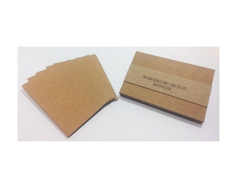 100 Business Card Blanks  Kraft Business Cards Recycled Cardstock 250 GSM Seller Supplies Biz Cards Eco Friendly DIY Business Cards
