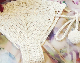 Lotis crochet bikini bottoms