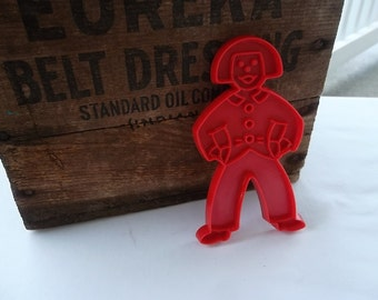 Vintage Tupperware Cookie Cutter, Sailor, 5 X 3 inches, Plastic, Handle