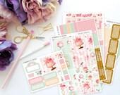 Birthday Horizontal Weekly Kit-- Matte Planner Stickers