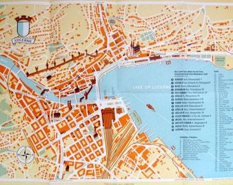 Map of Lucerne (c1955)