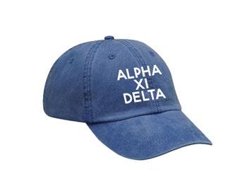 AXiD Alpha Xi Delta Simple Hat Choose Your Colors Sorority Hat