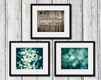 Powder Room Wall Decor powder room art | etsy
