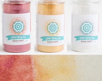 Sugar Crafty Silver and Gold Pump Push Edible Glitter Dust