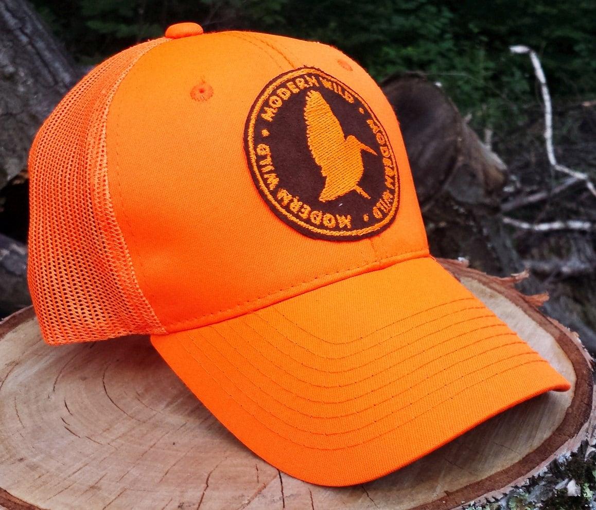 Woodcock Modern Wild Patch Blaze Orange Trucker Cap