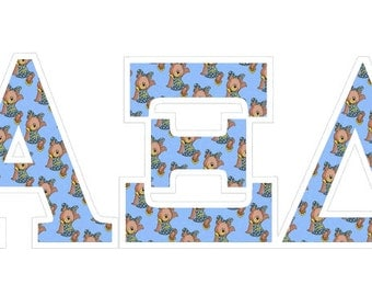 alpha xi delta mascot greek letter sticker 25