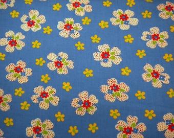 1 YD - Ducks in a Row Floral - Blueberry (American Jane) by MODA fabrics