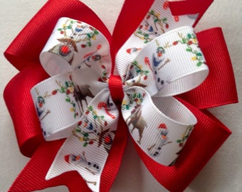 Olaf Christmas Boutique Hair Bow