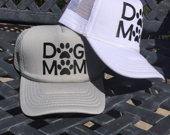 Dog Mom Hat, Dog Mom, Dog Mommy, Dogmom apparel, gifts for pet owners, dog lovers