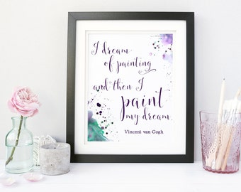 Custom Quote Print, Personalized Quote Print, Inspirational Quote Wall Art, Custom Wall Art, Watercolor Quote Print, Modern Calligraphy