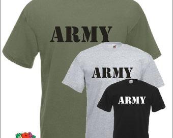 US Army Navy T-Shirt Air Force Marines Military shirt