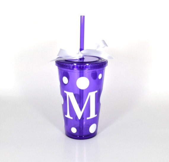 Items similar to custom monogram cup tumbler choose your for Monogram letters for cups