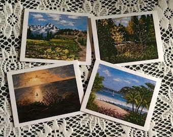 011 Landscape pack of eight notecards
