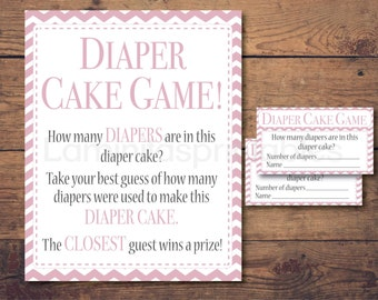 diaper cake, baby shower, diaper cakes, baby shower games, baby girl, girl diaper cake, pink diaper cake, baby diaper cake, guess how many