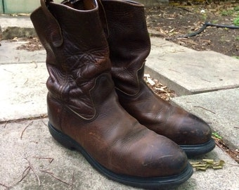 Vintage Red Wing Work Boots Size 8