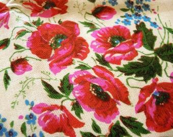 Vintage woolen shawl Woolen scarf with floral pattern #135