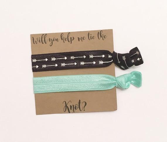 Bridesmaid hair tie favors//hair tie card, hair tie favor, bride, wedding, bridesmaid gift, bachelorette party, party favor, gift