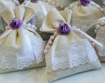 Scented Sachet. Set of three Lavender Scented Sachets, dryer bags, closet fresheners