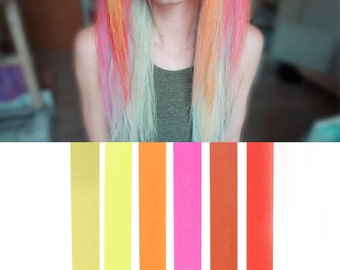 6 Best Temporary Pink Red Ombre hair Dye for dark and light hair - Set of 6   DIY Red Ombre hair Chalk for easy and simple hair coloring