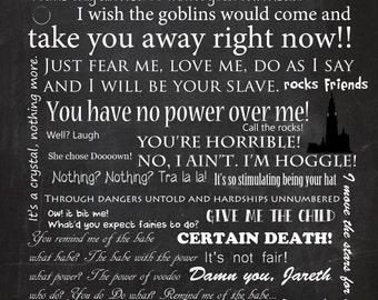Printable Labyrinth Typography Digital 8x10