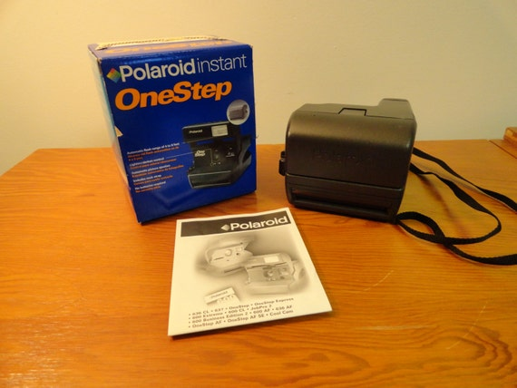 vintage polaroid instant one step camera in original box with One Step Film One Step Polaroid Instant Camera